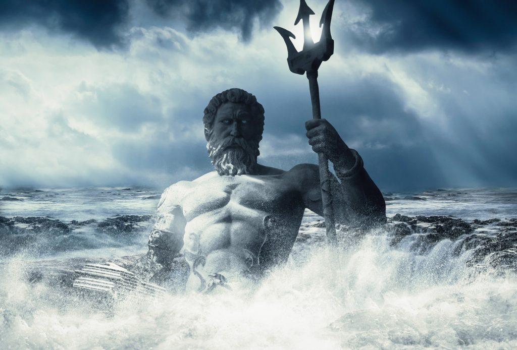 Poséidon force puissance mer tempête corps muscles