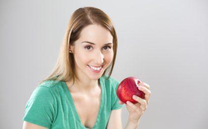 jeûne intermittent femme pomme